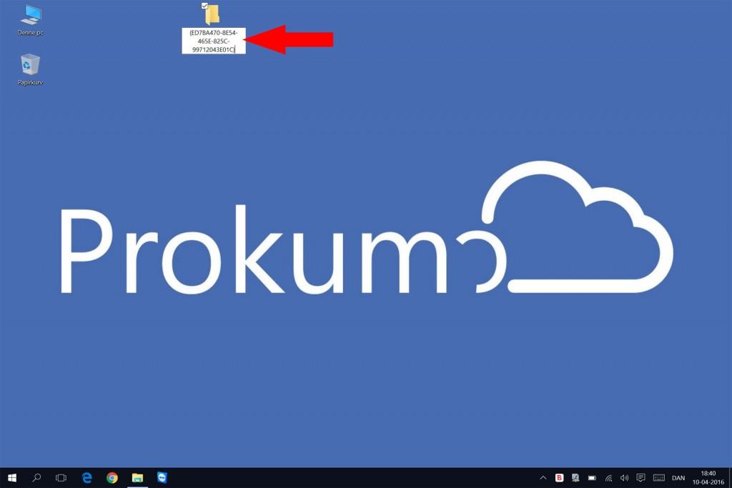 Omdøb mappen til ovenstående navn - computerkoden for God Mode i Windows
