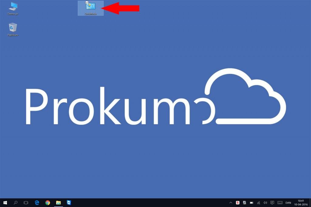 God Mode i Windows 10 - tadaaa!